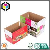 Tres capas a todo color del papel acanalado del rectángulo de empaquetado del cartón