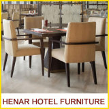 Présidence réglée de salle à manger de restaurant de meubles en bois de café