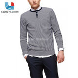 人のボタンが付いている円形の首の100%年の綿のセーター
