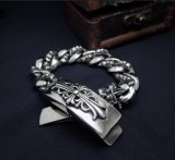Silver Black Body Jewelry Stainless Steel Men ID Pulseiras