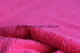 Verzerrung-strickendes korallenrotes Vlies-Gewebe mit doppelten Seiten