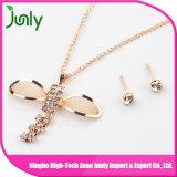 Ouro ajustado da jóia da colar da corrente da jóia das mulheres do metal