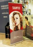 Retrolável Roll up Stand Banner com 85X200cm, Roll up Banner Stand, Roll up