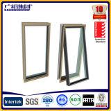 Ventana de aluminio del toldo de la doble vidriera de la buena calidad/ventana de aluminio