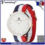 Relojes de nylon de las mujeres de los hombres del diseño simple del reloj del cuarzo del reloj de la correa de la OTAN del estilo militar unisex de la manera Yxl-492