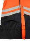 Безопасности видимости пальто дождя взрослого одежды Workwear одеяния водоустойчивой высокой отражательной защитные