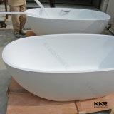 Ванна ванной комнаты ливня роскошного камня смолаы Freestanding