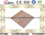 나무로 되는 방수 PVC 천장판을 인쇄해서 장식적인 벽면 Cielo Raso De PVC를 내화장치하십시오