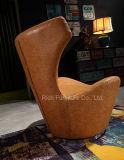 Cadeira de couro moderna do lazer do giro