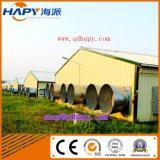 Edificio de la estructura de acero en casa de las aves de corral de Qingdao Hapy