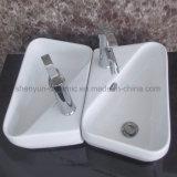 陶磁器の壁掛けの洗面器の浴室の流し(ML-8515)