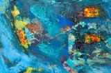 Pittura a olio della tela di canapa dell'estratto del mare dell'oceano del turchese