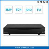 CCTV autonomo HVR di 8CH 3MP/2MP