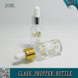 20ml vident la bouteille en verre cosmétique transparente de compte-gouttes pour l'acide hyaluronique