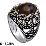 최신 Fatory 925의 은 니스 모형 남자 반지 판매