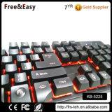 Клавиатура разыгрыша компьютера связанная проволокой USB освещенная контржурным светом