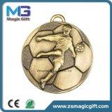 Kundenspezifisches antikes kupfernes Sport-Medaillen-Abzeichen mit Medaillen-Abzuglinie