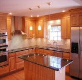 アメリカの現代的な純木の台所