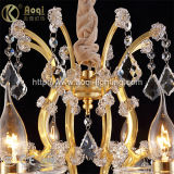 Luz de cristal quente do candelabro do ouro K9 da venda