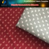 ポリエステルあや織りの人のワイシャツのための柔らかい仮眠の印刷ファブリック(葉及び花)
