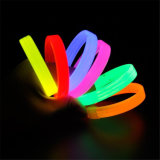 Glühen im dunkles Silikon-leuchtenden ArmbandWristband anpassen