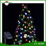 Solarzeichenkette-Lichter, multi Farben-Pfirsich-Blumen-Garten-feenhafte Solarlichter 50 LED wasserdicht für im Freienpatio-Weihnachtsfest-Hochzeits-Schlafzimmer-Dekoration