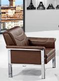 Sofa moderne populaire de cuir de bureau de conception de qualité avec le coussin 692#. de double de bâti en métal