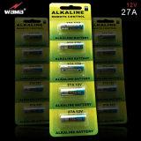 Super Alkaline Battery 12V 27A avec Blister Card