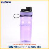 Подгонянные оптовой продажей бутылки скачками формы пурпуровые пластичные с ручкой