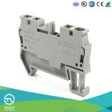 Cable connecteur électrique du bloc Jut3-4 de cosse de ressort de Dinrail