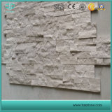 나무로 되는 백색 대리석 자연적인 균열 문화적인 돌담은 화강암 도와를 타일을 붙인다