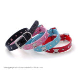 Fashion Hot Crocdile Pattern en cuir strass crâne Colliers pour animaux de compagnie