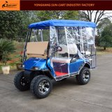 Тележка гольфа звероловства 4 Seater электрическая с задними местами Flip (крышка дождя можно choosed)