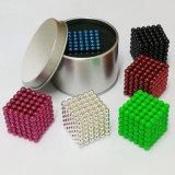 Esferas magnéticas 5mm coloridas magnéticas personalizadas do cubo neo forte do Neodymium