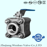 valvola forgiata ad alta pressione della sfera d'acciaio 3PC per industria del tubo
