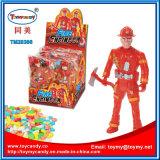 Plasitc Feuer-Hilfsmittel-Ingenieur-Mann-Roboter-Spielzeug mit Süßigkeit