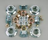 Écrous Hex DIN6923 de bride avec de l'acier du carbone galvanisé
