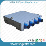 4-8 adaptadores Sc Metal FTTH caja de terminales de fibra óptica (FTB-M4-4SC)