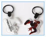 Kundenspezifische Firmenzeichen fördernde flache Taschenlampe Belüftung-LED mit Schlüsselring