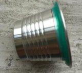 Cápsula reutilizable/recargable del acero inoxidable para la máquina del café de Nespresso