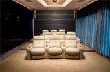 Sofa de Recliner de cuir véritable (706)