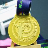 旧式な亜鉛合金の鋳造のカスタム金属のマラソンの連続したスポーツのトロフィメダル