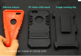 Phone móvil Accessory PC+ Silicone Tire Cell Phone Armor Caso con Stand para el iPhone 5/6 Caso para Samsung S6 S7 Cover
