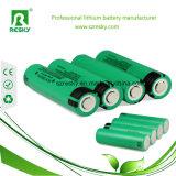 De IonenBatterijcellen van het lithium 18650 3.6 Volts 3100mAhNCR18650A voor Flitslichten