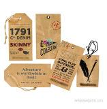 Hangt het Karton van Kraftpapier van de Manier van de Hoogste Kwaliteit van de douane Markeringen voor kleding