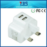 5V de Lader van de Telefoon van de Lader van de 2AMuur USA/Canada USB met Ce/FCC/RoHS