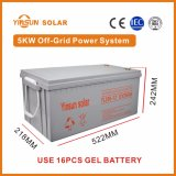 sistema di energia solare di fuori-Griglia 5000W per il sistema domestico di PV di energia solare