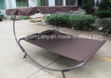 Sonnenschutz-Stahlrahmen-Doppelt-Hängematten-Stuhl mit Universalrad