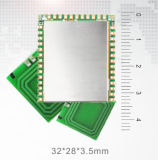 mini module d'accès de degré de sécurité de lecteur de RFID du port USB NFC de 3*3cm avec encastré 2 fentes de Sam