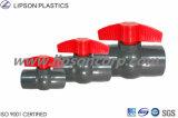 Robinets à tournant sphérique en plastique de PVC de taille de qualité différente de couleur